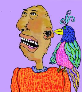 man&bird